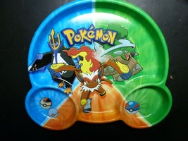 Vintage Pokemon Collectible Hard Plastic Childs Dinner Plate NOS NEW 2008 - $8.90