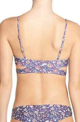 L Space PURPLE Liberty Mist Rocky Bikini Swim Top, US Medium