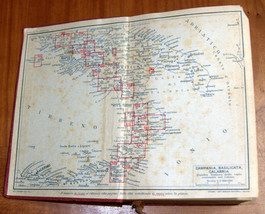 ITALIA Meridionale Southern Italy 1928 Travel Guide Maps Book 1st Edition HC image 2
