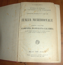 ITALIA Meridionale Southern Italy 1928 Travel Guide Maps Book 1st Edition HC image 1