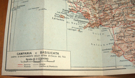 ITALIA Meridionale Southern Italy 1928 Travel Guide Maps Book 1st Edition HC image 4