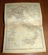 ITALIA Meridionale Southern Italy 1928 Travel Guide Maps Book 1st Edition HC image 10