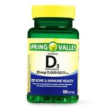 Spring Valley Vitamin D3 Softgels, 1000 IU, 100 CounT. - $11.87