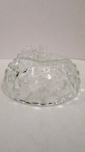 Jeannette Glass Apple Candy Dish Lid Only, Cube Cubist Pattern - $3.99