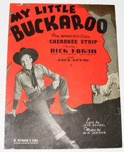 Vintage Sheet Music  © 1937  ~  MY LITTLE BUCKAROO - $8.00