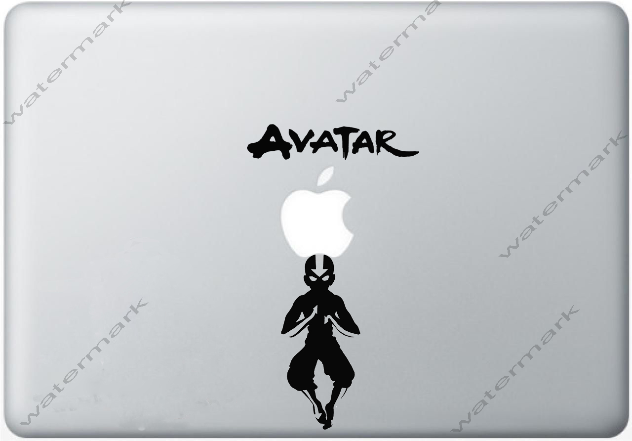 Avatar the last airbender decal aang in the avatar state macbook decal macbook