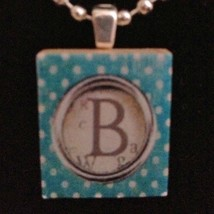 Personalized Initial Scrabble Necklace - B - $14.00