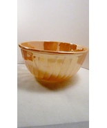 Fire King Mixing Bowl Peach Lustre Large 9 inch Vintage 1950s - $19.99