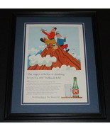 1959 7 Seven Up with Vodka 11x14 Framed ORIGINAL Vintage Advertisement - $46.39