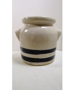 Robinson Ransbottom Stoneware Crock, Blue Strip... - $11.99