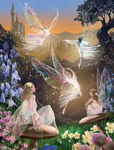 Fairy Ballet Fairies Collectible Vintage 6X8 Foil Fantasy Photo - €3,26 EUR