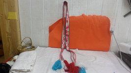 "Native American Red White Blue Yarn Belt 6"" Tas... - $99.99"