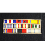 WW2 US Military Ribbon Bar - Silver Star,Bronze Star,Asiatic,Eur African w/pins - $74.58