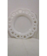 Hazel Atlas 1940s Platonite Lace Edge Plate, Wh... - $11.99