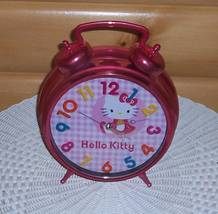 Hello Kitty Battery-Operated Metallic Pink Jumbo Alarm Clock - $6.77