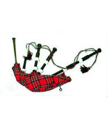 NEW CP BRAND IMPORTED FULL SIZE NATURAL ROSEWOOD BLACK BAGPIPES READY 2 ... - $193.32