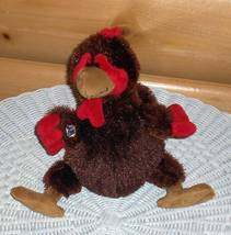 Webkinz Plush Brown Rooster with Red & Gold Accents Needs Home - $2.99