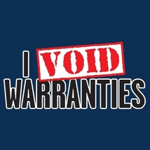 I Void Warranties - Mens Tee - XL -Tan - $12.99
