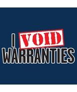 I Void Warranties - Mens Tee - XL -Tan - $12.99