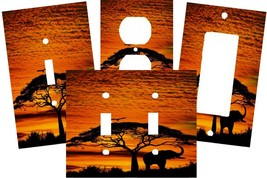 AFRICAN ELEPHANT SAFARI SKIES LIGHT SWITCH PLATE COVER - $9.00+