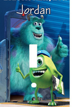 PERSONALIZED MONSTERS INC SULLY & MIKE BLUE THUMBS UP LIGHT SWITCH PLATE... - $6.75