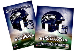 PERSONALIZED SEATTLE SEAHAWKS FOOTBALL LIGHT SWITCH PLATE COVER - $9.50+