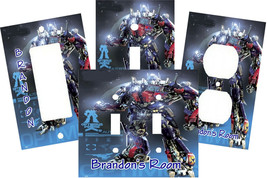 PERSONALIZED TRANSFORMER OPTIMUS PRIME LIGHT SWITCH PLATE COVER - $9.25+
