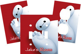 PERSONALIZED BIG HERO 6 BAYMAX LIGHT SWITCH PLATE COVER - $9.00+