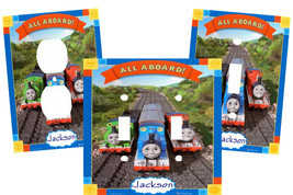 PERSONALIZED THOMAS THE TRAIN & FRIENDS LIGHT SWITCH PLATE COVER - £5.17 GBP+