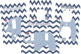 PERSONALIZED ZIG ZAG BLUE POLKA DOT RED BIRD ELEPHANT LIGHT SWITCH PLATE... - $6.75+
