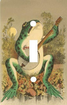 MUSIC BANJO PLAYING FROG LIGHT SWITCH PLATE COVER - $6.25