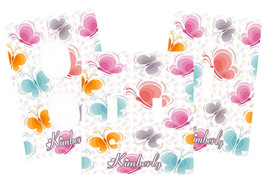 PERSONALIZED PINK PURPLE BLUE ORANGE BUTTERFLIES LIGHT SWITCH PLATE COVER - £5.31 GBP+