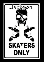 PERSONALIZED SKATERS ONLY SKULL SKATEBOARD SWITCH PLATE COVER - $6.25