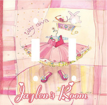 PERSONALIZED TINY DIVA PRINCESS KIDS ROOM DECOR LIGHT SWITCH PLATE COVER - $7.25