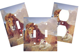 LION & LAMB IN FIELD LIGHT SWITCH PLATE COVER - $9.00+