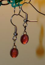 Genuine Pink Tourmaline 8x6mm Cabochon Gemstone Dangle Earrings #2 - $22.00