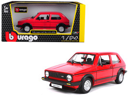1979 Volkswagen Golf Mk1 GTI Red with Black Stripes 1/24 Diecast Model Car by Bb - $33.64
