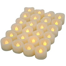 Candle Choice Flameless Candles Pack of 24 Battery Powered Tea Lights Le... - $15.55