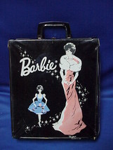 Vintage 1962 Barbie Doll PonyTail Carry Case Black Mattel Enchanted Evening - $49.49