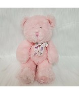 "10"" Russ Berrie Buffie Bear Pink Rattle Baby Plush Stuffed Toy Lovey  B219 - $14.97"