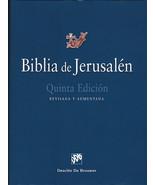 Biblia de Jerusalen Pasta Dura Uñeros Nueva Quinta Edicion Revisada Cato... - $38.56
