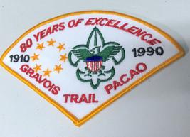 VTG BSA Boy Scouts St. Louis Area Gravois 1990 80 Years Pacao Patch - $7.31
