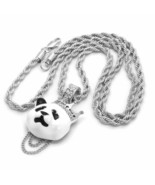 "Silver Plated Custom Iced Out Hip Hop Crown Panda Pendant with 24"" Rope ... - $10.84"