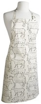 Now Designs Basic Cotton Kitchen Chef's Apron, Prime Cut Meat Print - $21.19