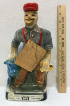 Paul Bunyan & Babe Blue Ox Jim Beam Liquor Decanter Bottle 1971 Vintage - $34.60