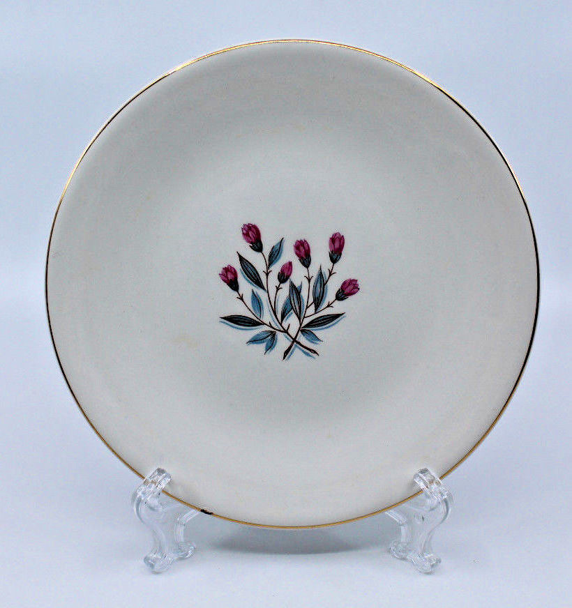 Enoch wedgwood tunstall ltd Bread and Butter Side Plate Pink Flower 17.5 cm image 2