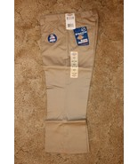 "DICKIES Girl's Junior Khaki School Uniform Capri Sz 5 Boot Cut 31"" x  21.5"" - $14.80"