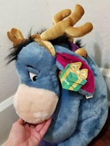 "Disney Store 20"" Eeyore Reindeer Plush with Antlers Christmas Jingle Bel... - $27.08"