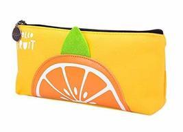 Fruit Pencil Case Simple Stationery Box Students Lovely Orange Pencil Ba... - $11.99
