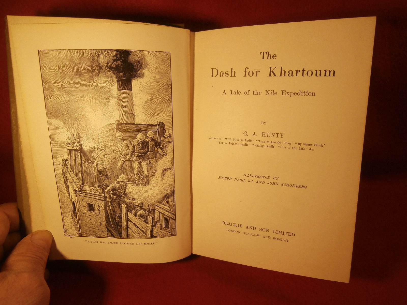 The Dash for Khartoum by G A Henty Prntd London Illst by J Nash and J Schonberg